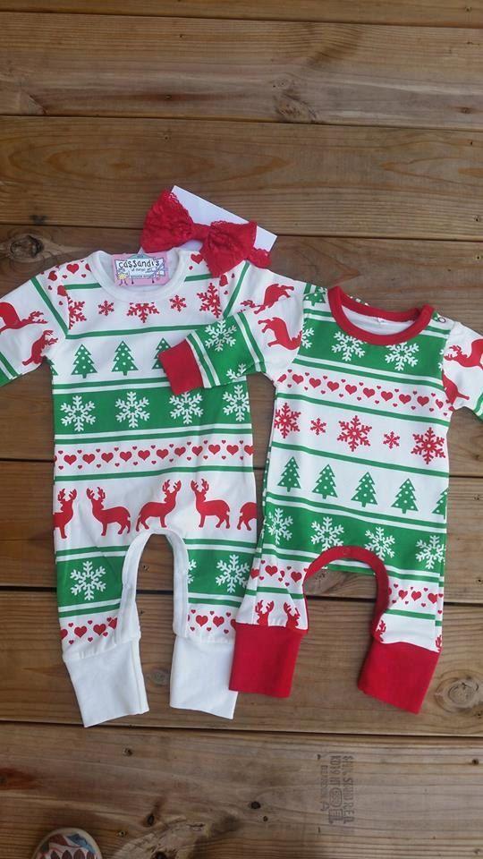 Baby Christmas Pajamas Toddler Christmas Pajamas by Cassandis