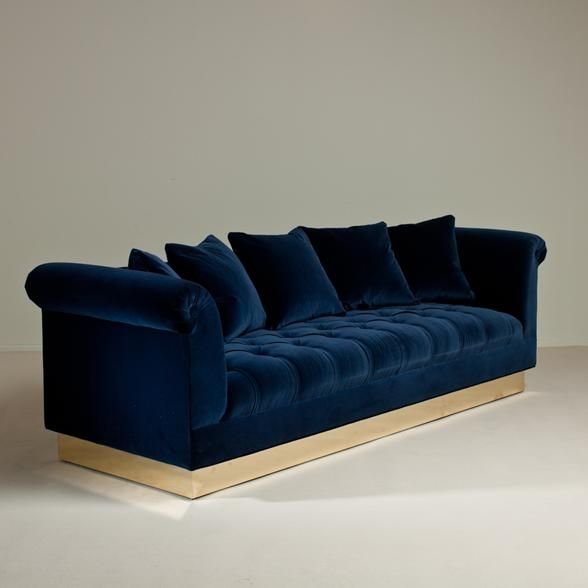 blue velvet couch sofa navy sofa wish list pinterest wohnzimmer samt und m bel. Black Bedroom Furniture Sets. Home Design Ideas