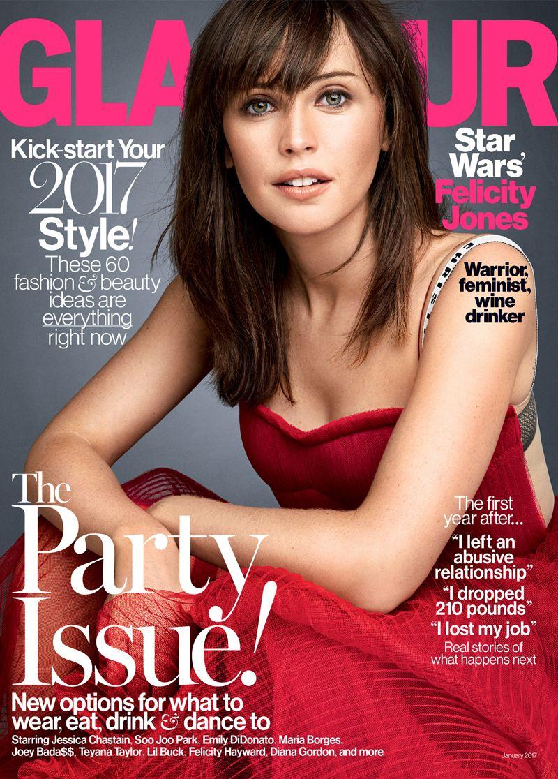 Felicity Jones Covers Glamour S January Issues Https Fashionweekdaily Com Felicity Jones Covers Glamours January Iss Felicity Jones Glamour Magazine Felicity
