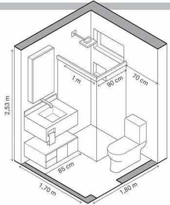 Image result for 5 x 7 bathroom layout | Small bathroom ...