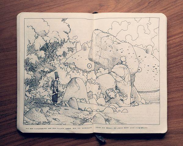 1.2 Sketchbook 2014 by Jared Muralt, via Behance