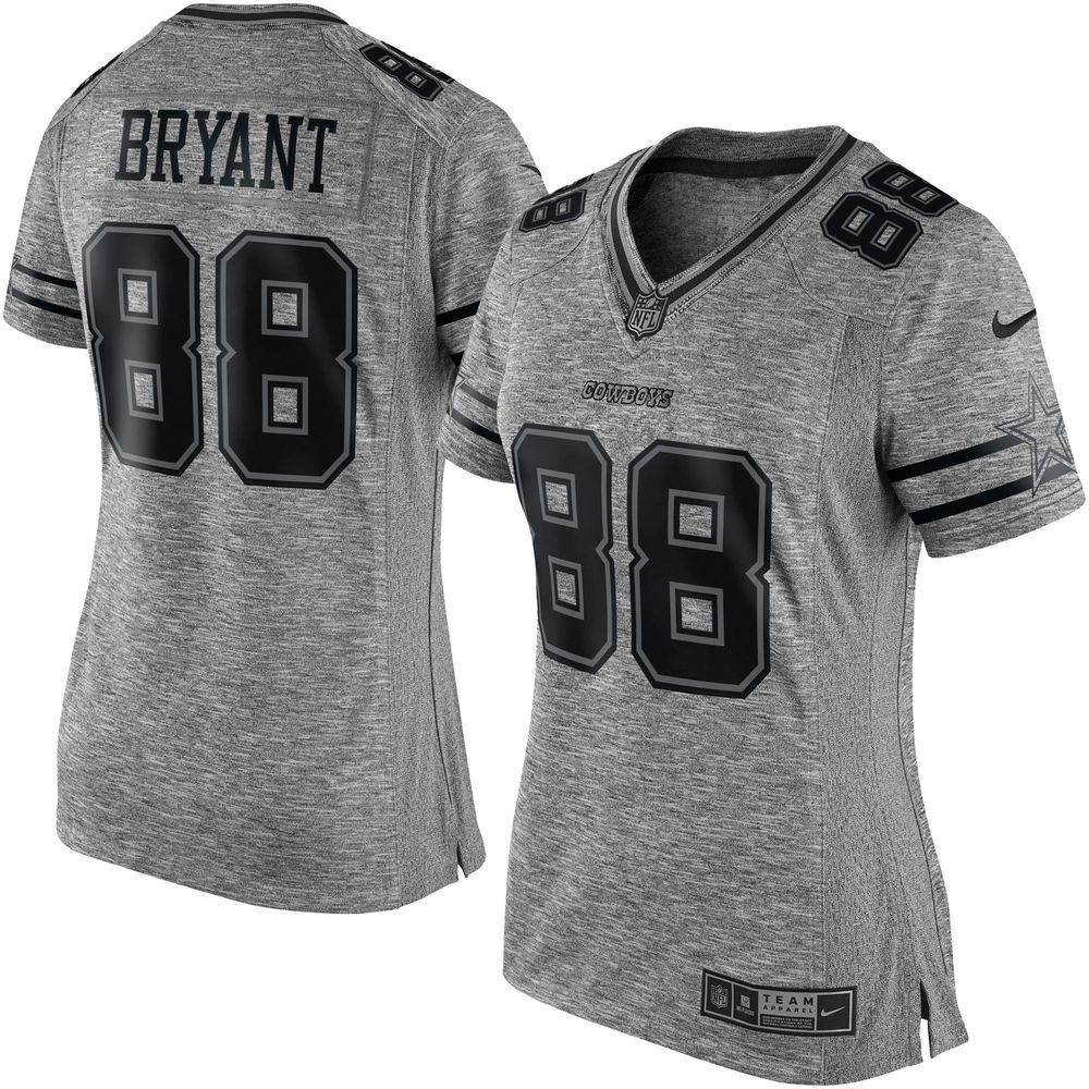 Women s Dallas Cowboys Dez Bryant Nike Gray Gridiron Gray Limited Jersey 625df2bae