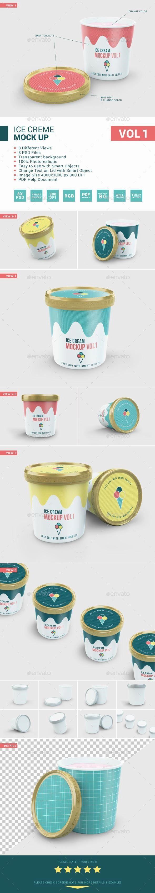 Ice Cream Package Mockup Ice Cream Packaging Yogurt Packaging Ice Cream