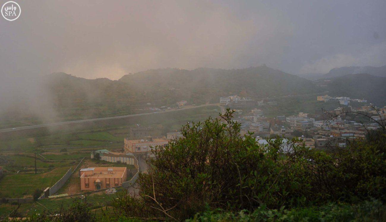 صور الباحة تلبس حلة خضراء بعد أمطار غزيرة Natural Landmarks Landmarks Nature