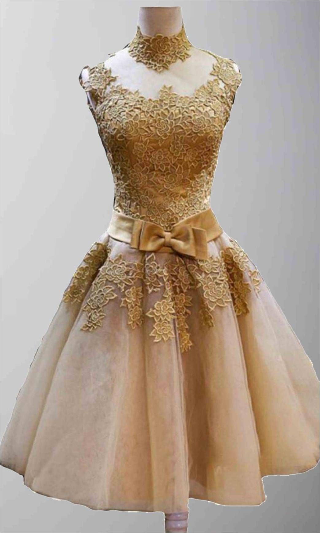 Golden vintage princess high neck short prom dresses ksp320 prom there is 0 tip to buy this dress prom gown short prom vintage golden prom high nckline homecoming lace embroidery wedding es ombrellifo Images