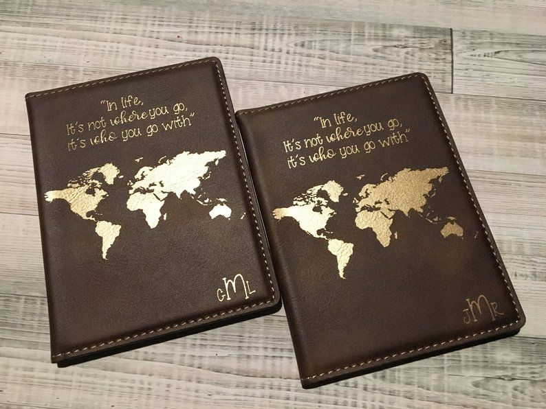 Passport Cover Leather Leather Passport Cover Personalized Wedding Gifts for Couple Personalized Personalized Passport Covers