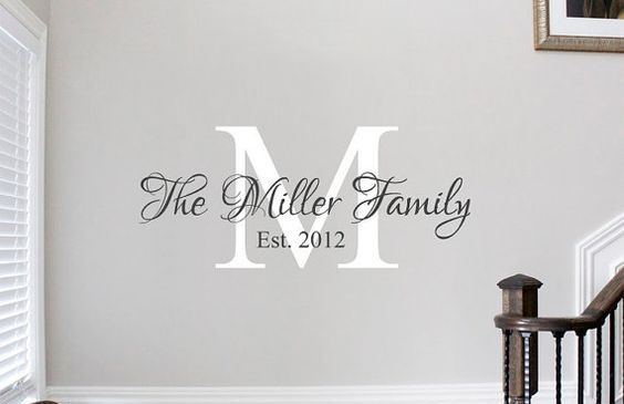Personalized Cricut Vinyl Wall Design Name Initial Vinyl Wall Decals Family Family Wall Decals Wall Quotes Decals