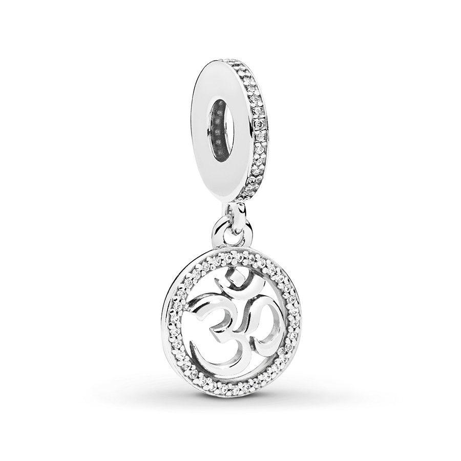 699b746a4 Pandora Dangle Charm Om Symbol Sterling Silver   Xmas Wish List   Om ...