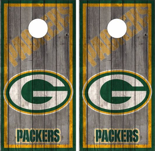 Custom Made Cornhole Bean Bag Toss BOARDS With BAGS Greenbay
