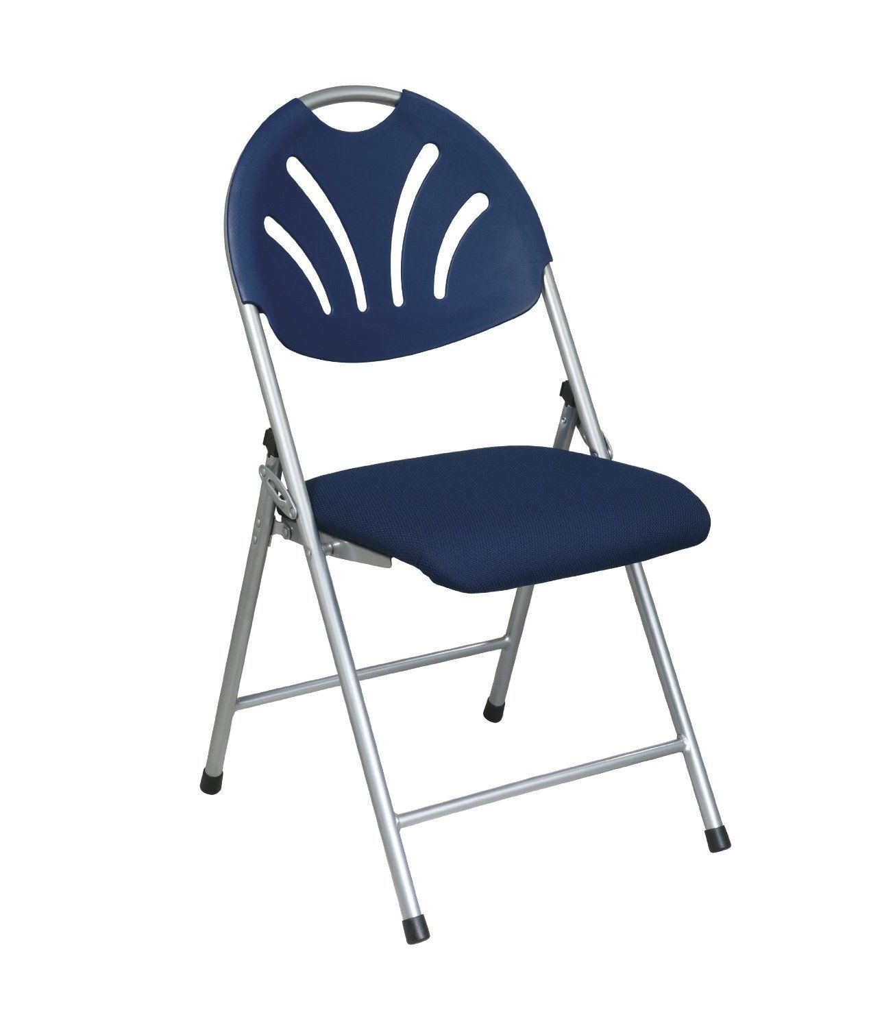 Office Star Work Smart FC8100NS-7 Folding Chair with Blue