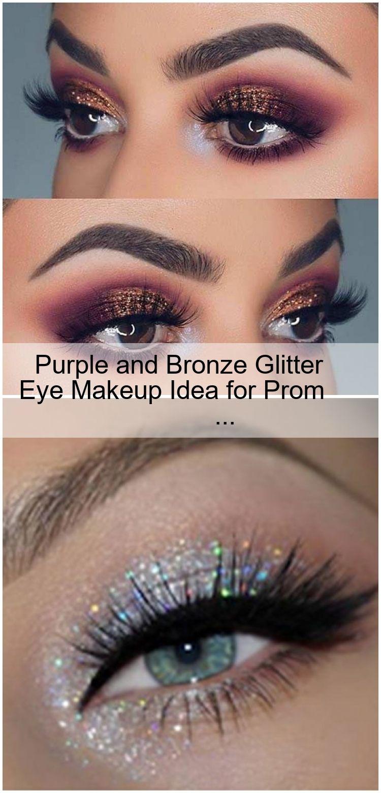 Photo of Purple and Bronze Glitter Eye Makeup Idea for Prom #eyemakeups #EyeMakeupOrange …