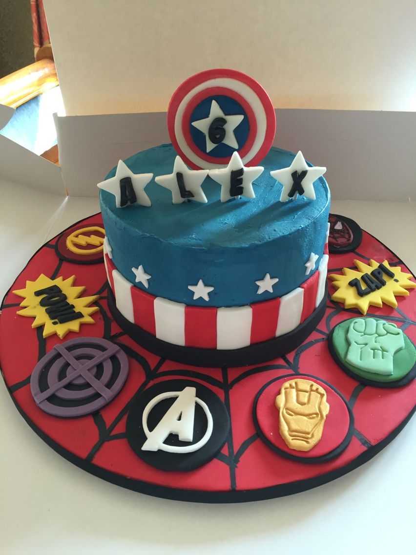 Superhero Marvel Captain America Cake In Buttercream America Cake Captain America Cake Avenger Cake