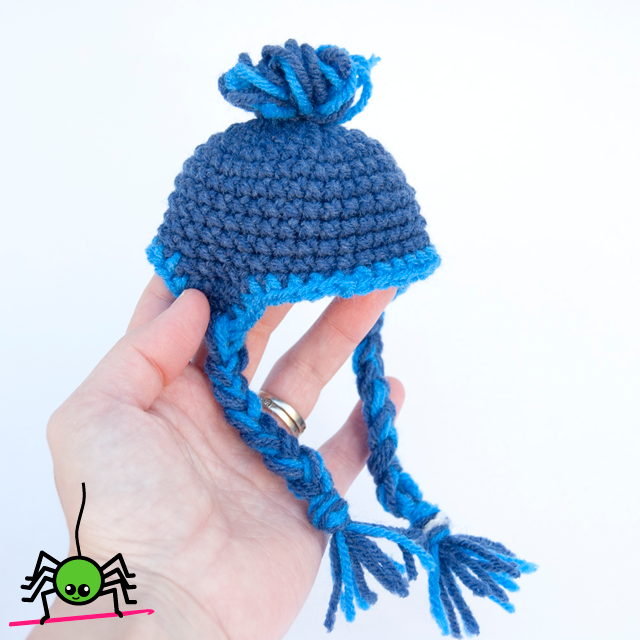 Free Amigurumi Ear Flap Hat Pattern for Dolls | The Itsy Bitsy ...