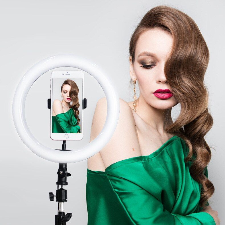 10 Selfie Ring Light with Tripod Stand amp Cellphone Holder LED Camera Selfie Ring Light for Liv