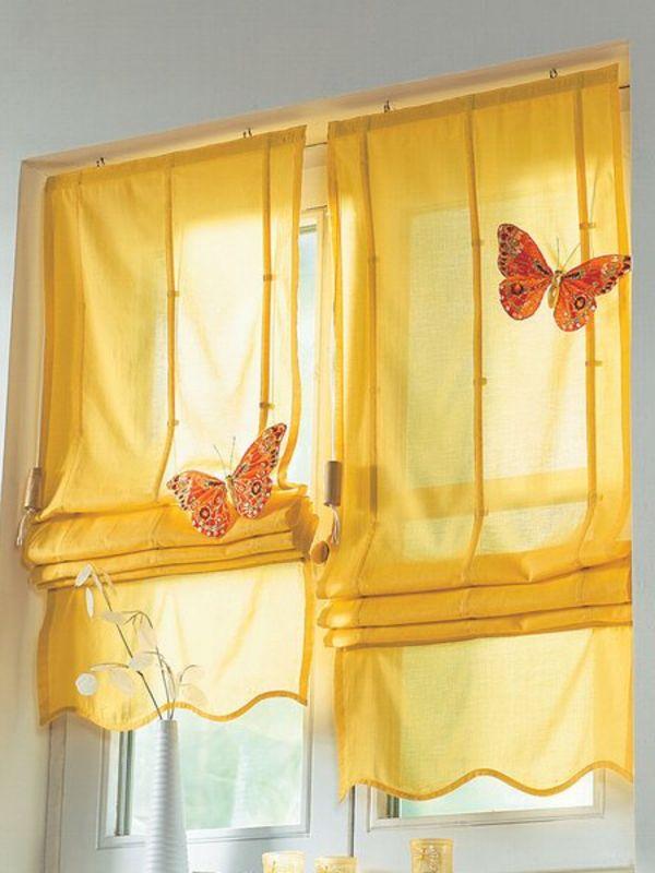 gardinen auswählen ratschläge bider farbe gelb | curtains | Pinterest