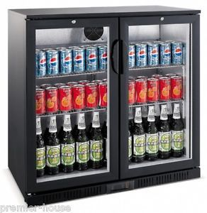 Chillmax Bar Beer Wine Fridge 2 Door Black 198l Glass Door Rrp 1299 New 2015