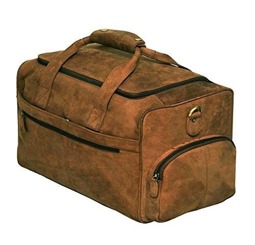 3fa8ce37a560 Leaderachi 100 Pure Genuine Real Vintage Hunter Leather Handmade Unisex  Large Travel Bag OLBIA MUSKAT     Click image for more details.