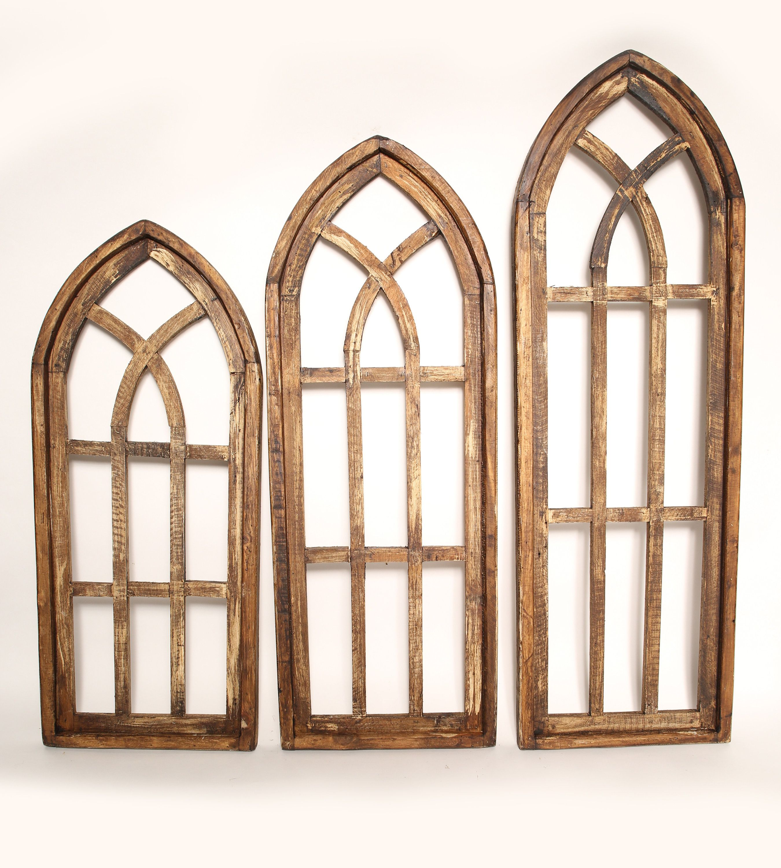 Byzantine Windows Architectural Gothic Windows Set Etsy Arched Wall Decor Window Wall Decor Medallion Wall Decor