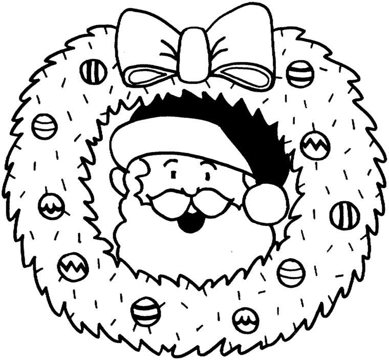 Disegni Di Natale Ghirlande.Disegni Da Colorare Natale Una Grande Ghirlanda Con All