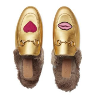 3f47c7368cb Buy Of The Week    Gucci Princetown Lips   Fur Mule in Gold