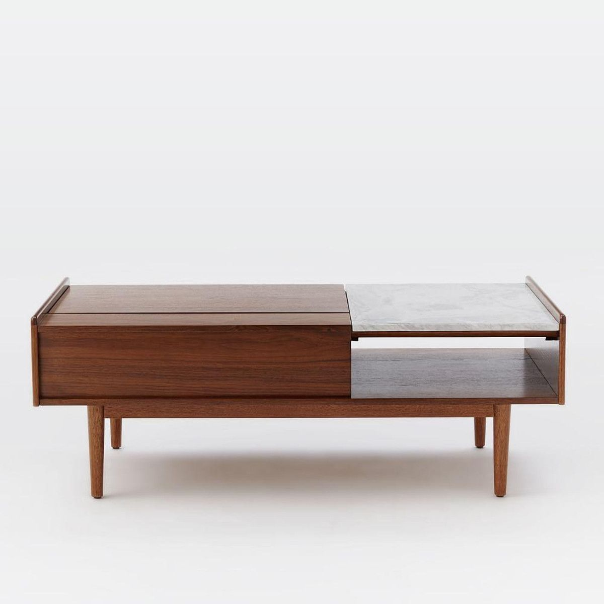 Midcentury popup storage coffee table mid century