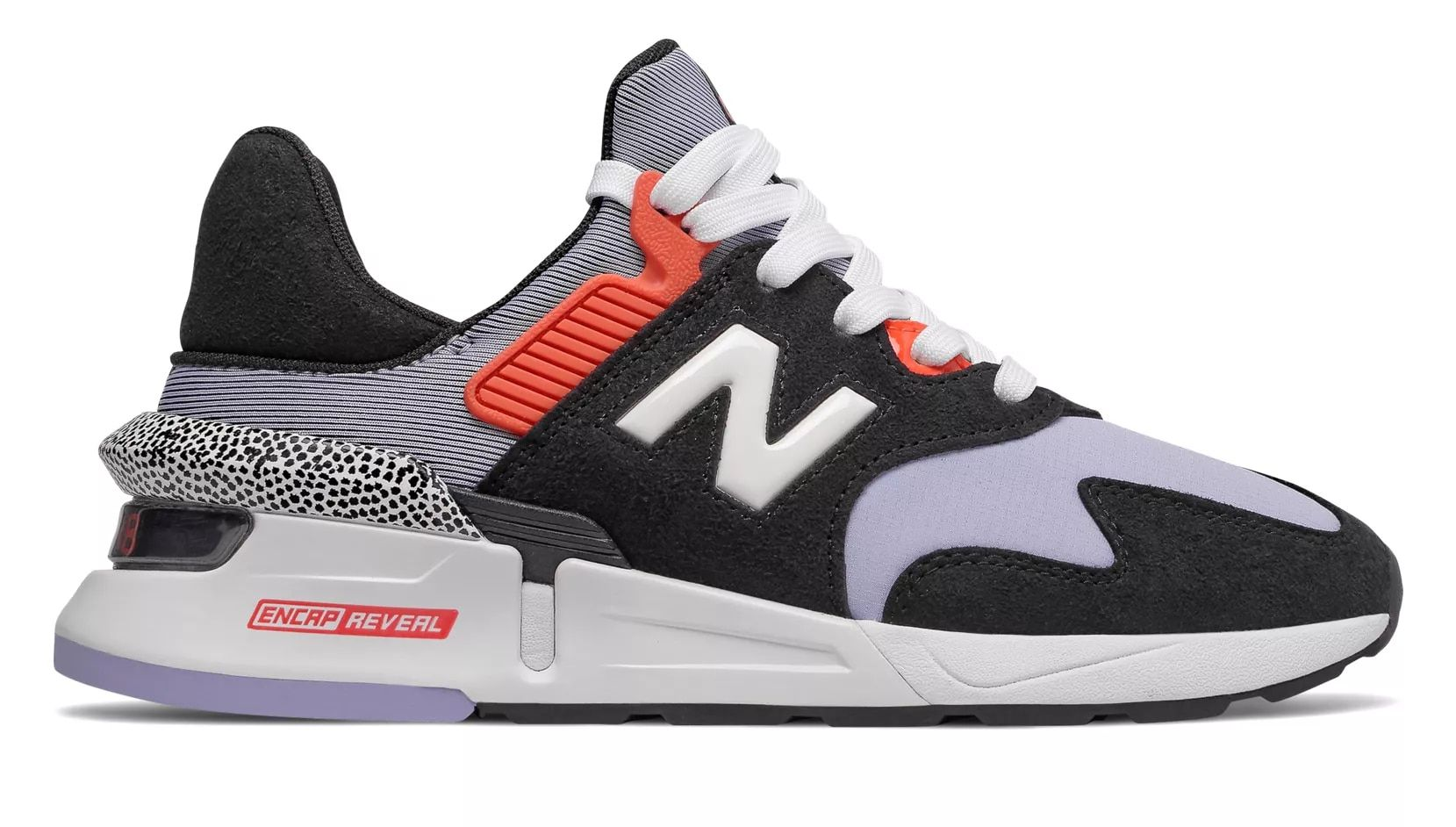 997 Sport, Black with Clear Amethyst Womens casual