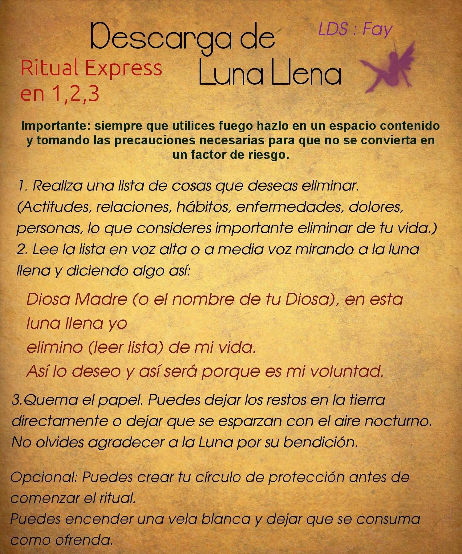 Ritual sencillo para practicar durante la luna llena - Como deshacerse de la mala suerte ...