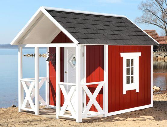 Polo Gartenhäuser kinderhaus im schweden look garten schwedenhaus