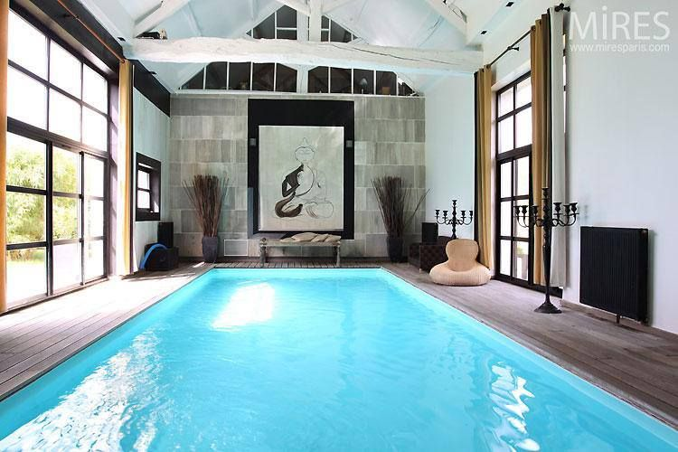 Piscine Interieur Home Ideas Pinterest Swimming Pools, Indoor