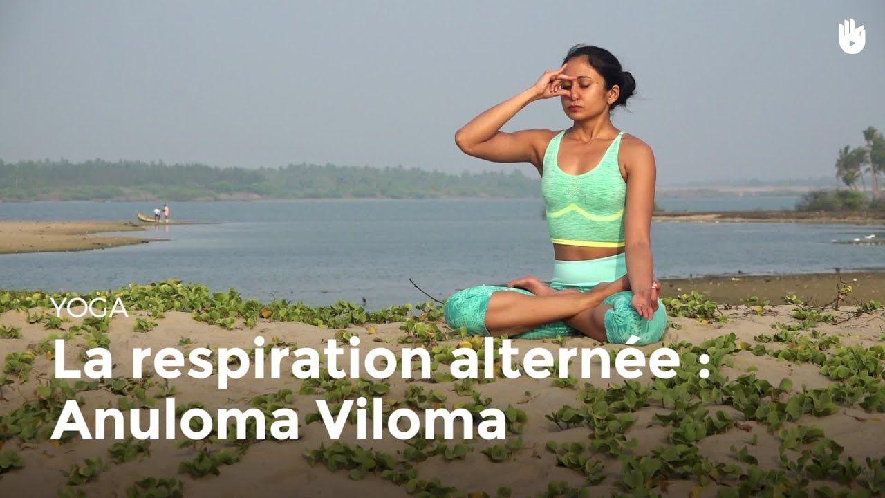 Apprendre La Variante Anuloma Viloma De La Respiration Alternee Apprendre Le Yoga Youtube Yoga Pranayama Respiration