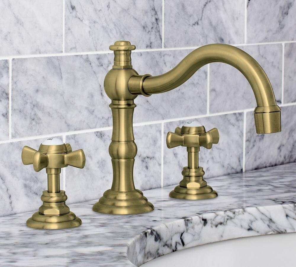 Mercer Cross Handle Widespread Bathroom Sink Faucet Widespread Bathroom Faucet Bathroom Faucets Diy Bathroom Design [ 900 x 1000 Pixel ]