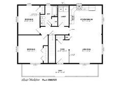28' x 40' with 6' x 36' porch | Cabin floor, Log cabin ...