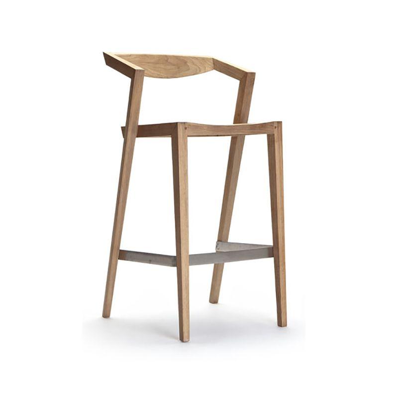 Amazing The Borough Bar Stool Is Made From Weather Resistant Teak Creativecarmelina Interior Chair Design Creativecarmelinacom