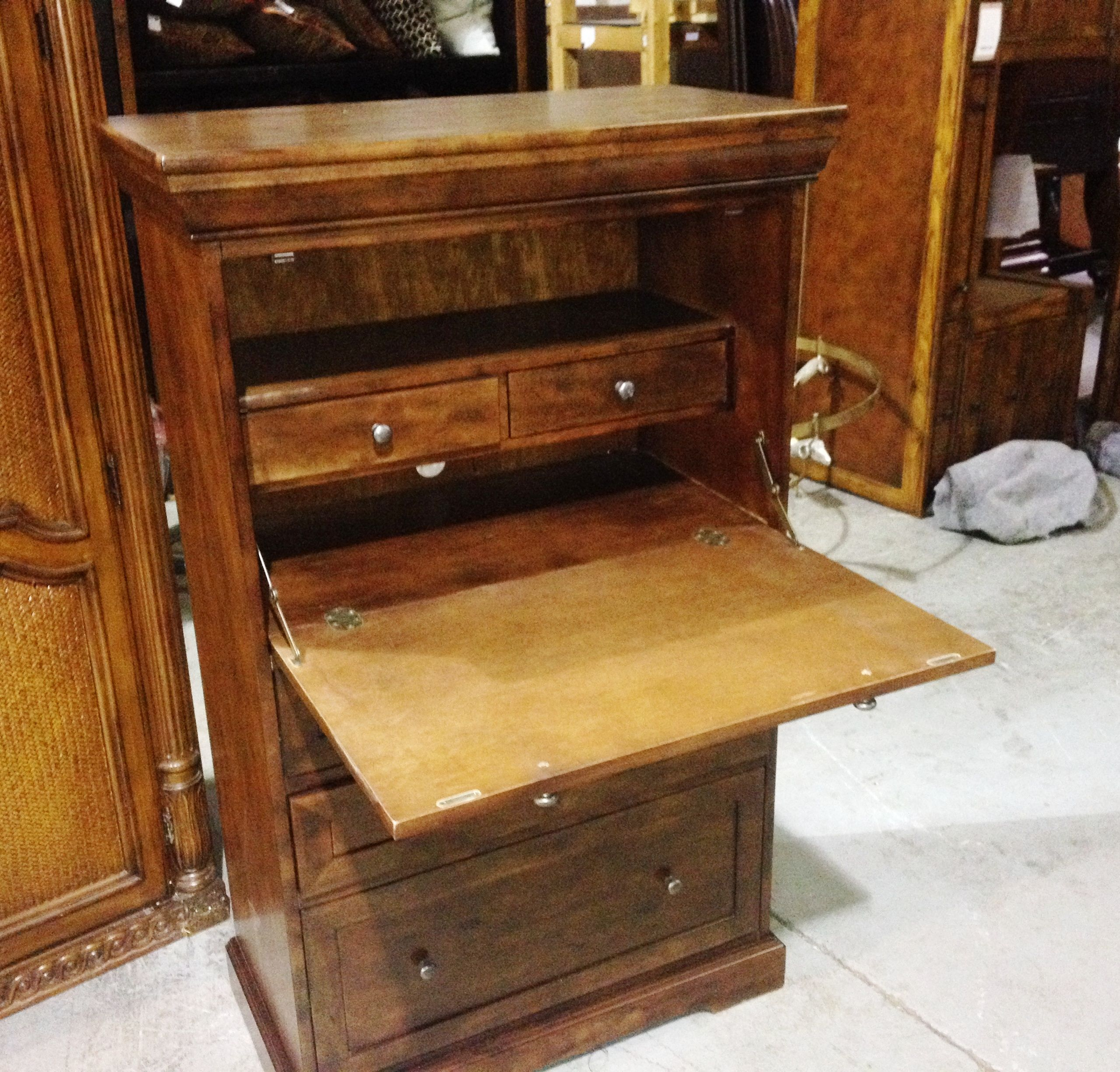 pin solid secretary built is has this furniture desk pull world of maple one stein it a