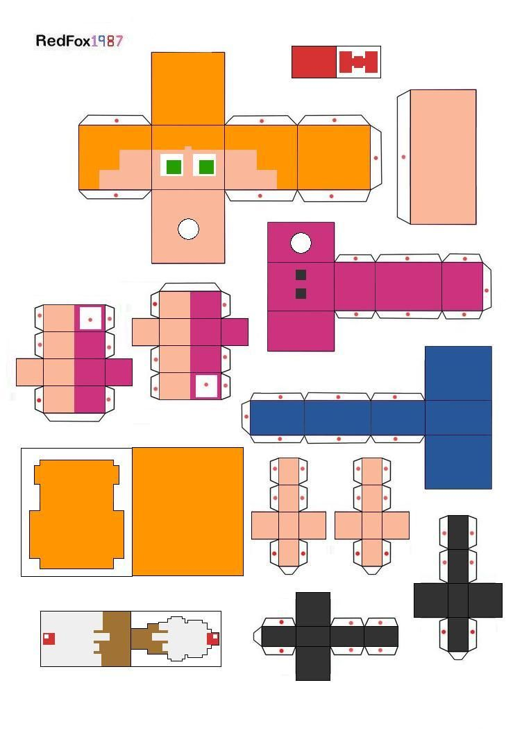 Elizabeth Afton Papercraft By Redfox1987 On Deviantart In 2020 Afton Elizabeth Fnaf