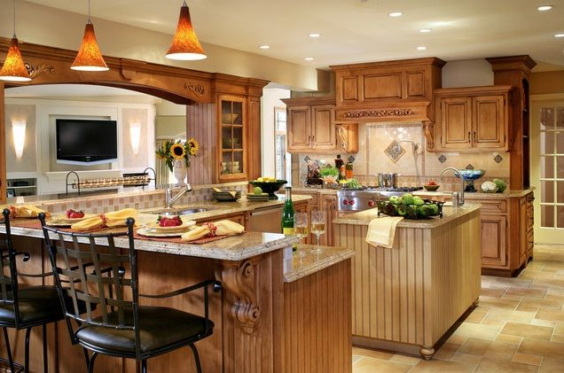 beautiful kitchen island designs most beautiful kitchens traditional kitchen design 13 16264