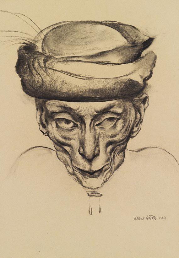 Porträt einer alten Dame, 1923 by Albert Birkle (1900-1986 ...