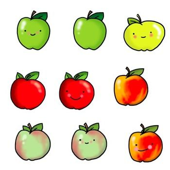 Silhouette Design Store - View Design #216255: apple with worm ...