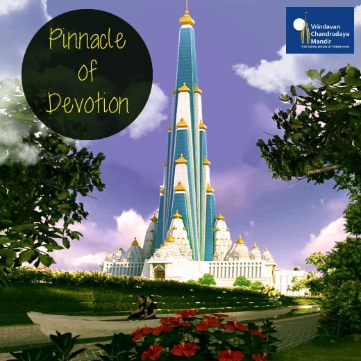 Helping build Chandrodaya Mandir will allow you to touch the pinnacle of devotion! Join us