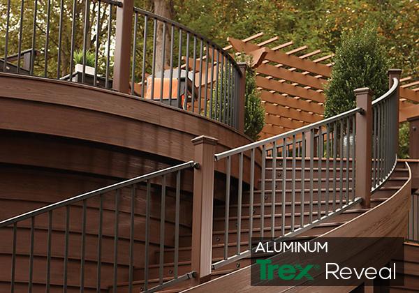 trex railings and balusters | deckorators aluminum railing