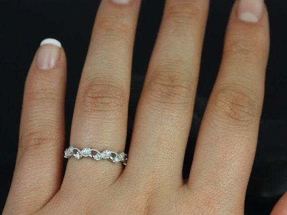 Daphine Platinum Thin Weaving Leaves Diamonds por RosadosBox