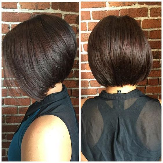 Stacked Bob Hairstyle Mesmerizing Short Stacked Bob For Fine Hair  Hair And Beauty  Pinterest