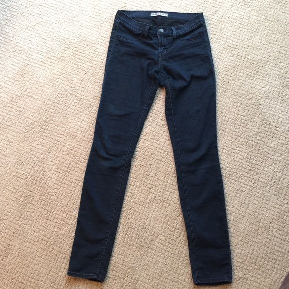 J Brand skinny jeans Soooo soft - like butter! There is a patch in the crotch area- see picture. It was patched by seamstress. These are soft and so comfortable. You could sleep in them! J Brand Jeans Skinny