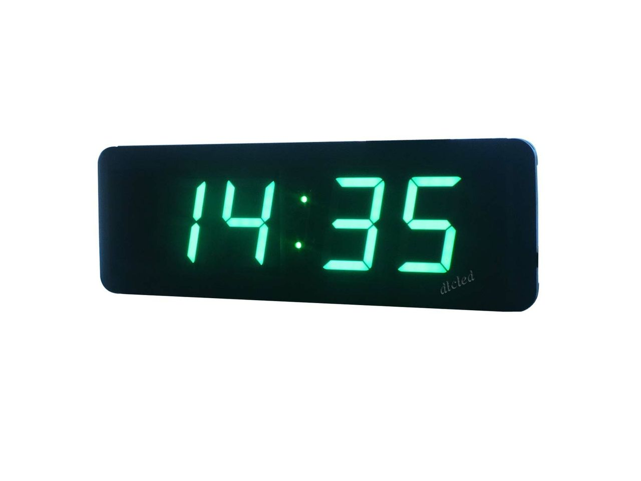 2 3 Green Color Led Wall Clock Hours Minutes Format 12 24