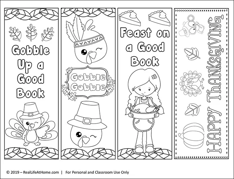 Free Printable Thanksgiving Bookmarks To Color For Kids Coloring Bookmarks Bookmarks Kids Free Printable Coloring
