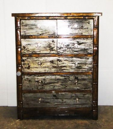 Best Chest Of Drawers Silver And Gold Leaf 6 Drawer Chest Of 640 x 480