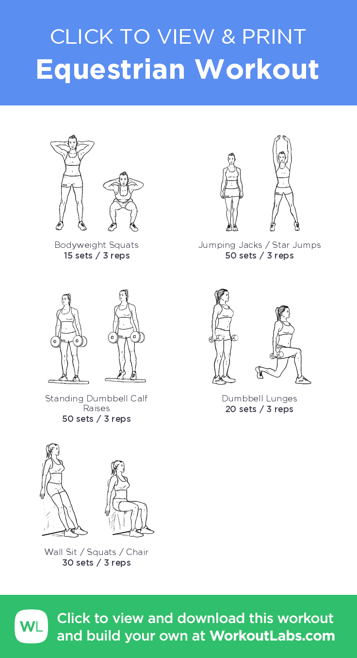 Equestrian Workout click to view and print this