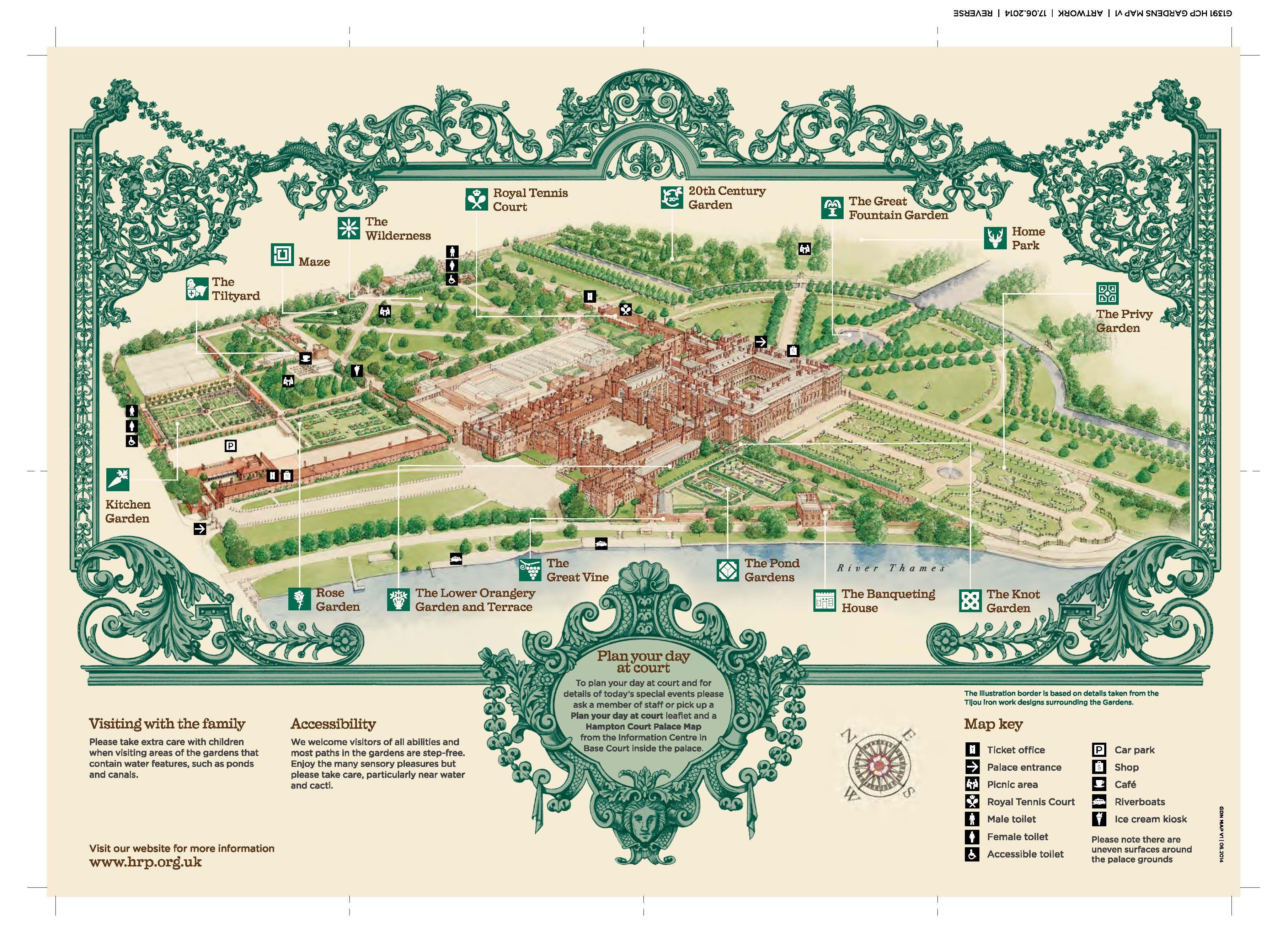 Hampton Court Flower Show Map Map of Hampton Court Palace | Cultivate | Hampton court, Hampton