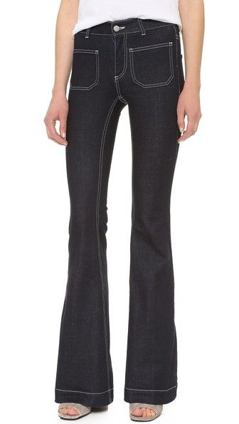 STELLA MCCARTNEY 70 Flare Jeans With Patch Pockets. #stellamccartney #cloth #pant #jean