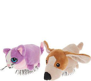 Set of 2 Tangle Pets Detangling Hair Brushes by Lori